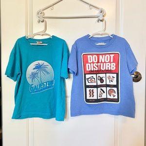 Two Boys Printed T-Shirts